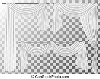 set transparent curtains lambrequin pelmet - Set of...