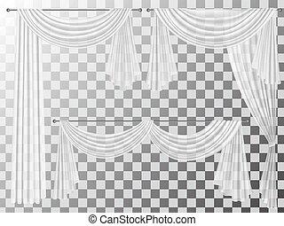 set transparent curtains lambrequin pelmet - Set of...