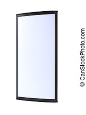 Black vertical blank outdoor lightbox 3D rendering