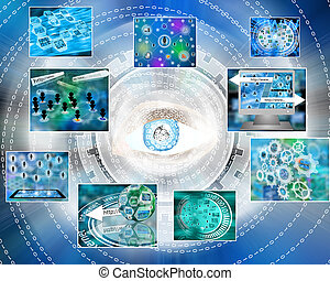 cyber-eye - Many abstract images on the theme of computers,...