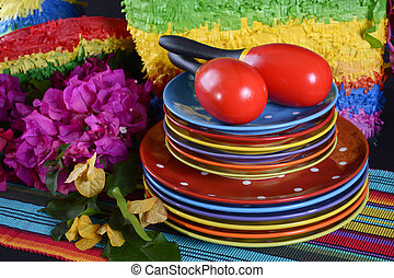 Cinco de Mayo Party Table. - Colorful Happy Cinco de Mayo...