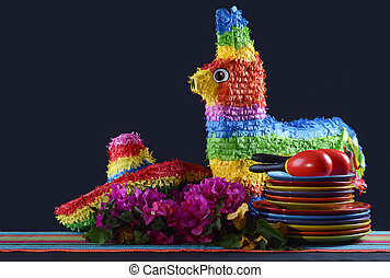 cinco,  Mayo,  De, tabla, fiesta