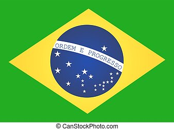 Brazil Flag. Vector illustration.