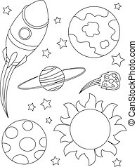Outlined Outer Space Elements