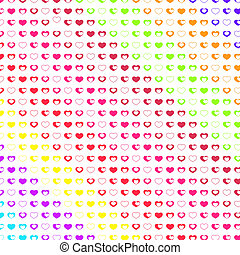many hearts on white - Seamless pattern in the romantic...