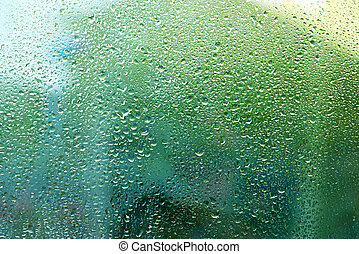 Green water drops background texture