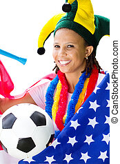 african american football fan