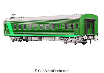 passenger train car - The image of a passenger train car