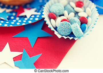 candies with star decoration on independence day - american...