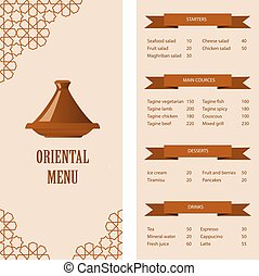 restaurant menu template - restaurant oriental menu template...