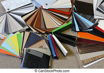Samples colors chipboard