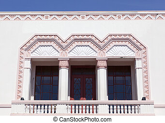 Art Deco Architecture - The historic building in Napier, the...