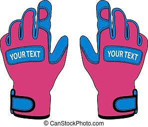 sports gloves in the vector