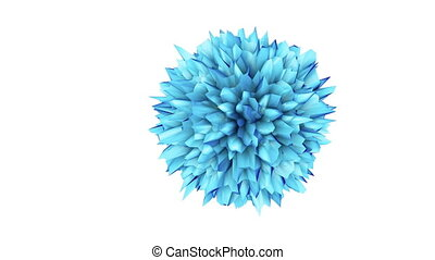 3D illustration of three-dimensional globe virus object