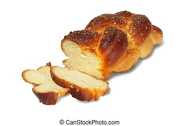 Challah on white - Challah isolated on white background