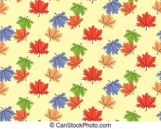 seamless maple leaf pattern background