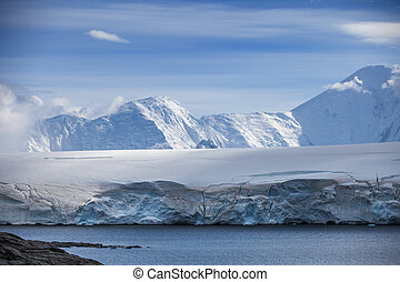 Coast of Antarctica with centuries-old thicknesses off...