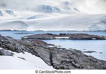 Nature and landscapes of the coast Antarctica, beautiful...