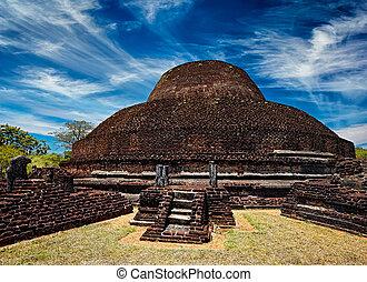 Ancient Buddhist dagoba stupe Pabula Vihara.  Sri Lanka