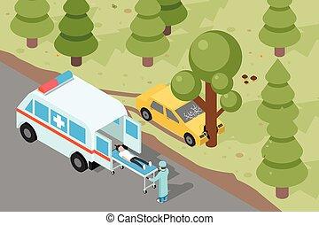 Ambulance Emergency medical accident evacuation Emergency,...