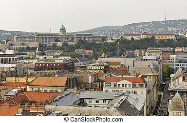 Aerial view of Budapest city, Hungary