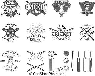 Set of vector cricket sports logo designs Cricket icons...