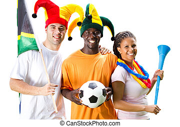 soccer enthusiasts - a group of young soccer enthusiasts...