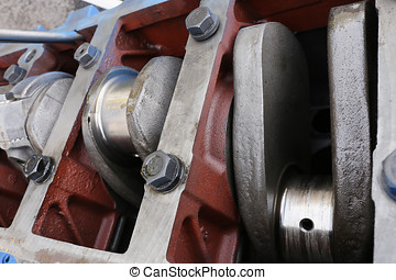 crankshaft of the engine of the tractor