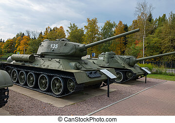 The Soviet tank T-34 of times of the Second World War