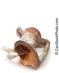 Broken amphora - ancient broken amphora with coral inside...