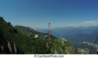 Cell phone towers in mountains