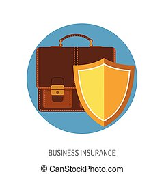 Business Insurance Flat Icon