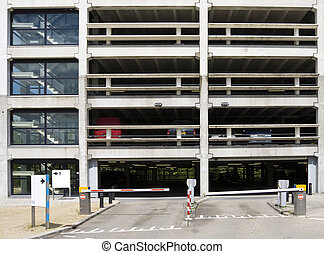 Car park in Westraven, Utrecht, the Netherlands