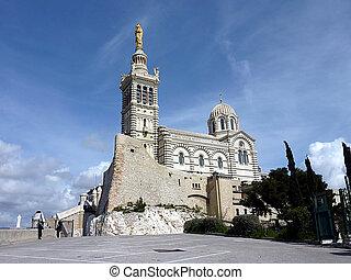 Basilica Notre-Dame-de-la-Garde, Marseilles, France, by...