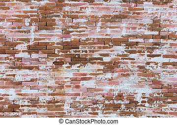Grunge red brick wall background with copy space - Old brick...