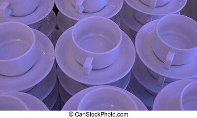 The Cups and saucers - Cups and saucers ready for a buffet...