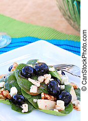 Spinach and Gorgonzola Salad - Spinach salad with gorgonzola...