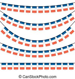 garlands with france national colors - different garlands...