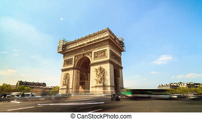 Arc de triomphe timelapse - Beautiful full HD timelapse of...