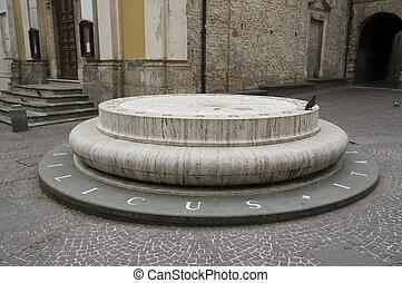 umbilicus Italiae monument - Piazza San Rufo in Rieti is...