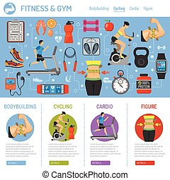 Fitness and Gym Infographics - Fitness, Gym, Cardio, Healthy...