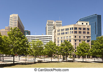 Fort Worth downtown district Texas, USA - Highrise buildings...