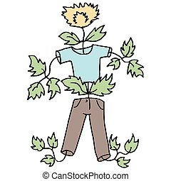 Kid growing like a weed - An image of a kid growing like a...