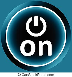 Icon white digital inclusion - Icon with the graphic button...