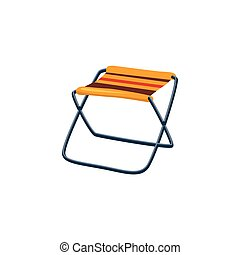 Foldable Camp Chair Cartoon Simple Style Colorful Isolated...