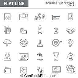 Line icons - Set of modern simple line icons in flat design...