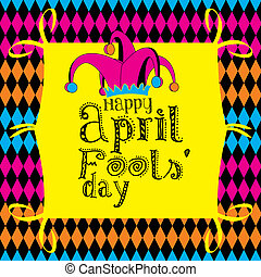 Happy April Fools Day on a colorful background