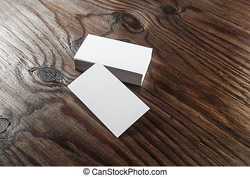 White business cards - Photo of blank white business cards...