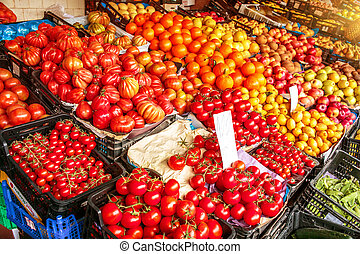 Mercado do Bolhao Porto - Fruit market at Mercado do Bolhao...