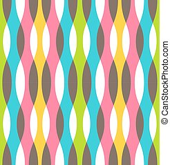 Seamless Bright Abstract Vertical Pattern